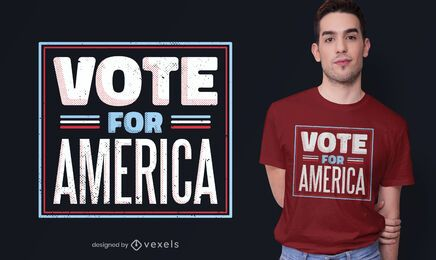 Vote no design de camisetas america