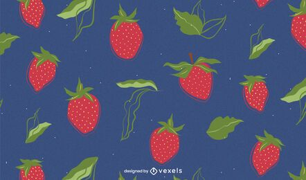 Strawberry pattern design