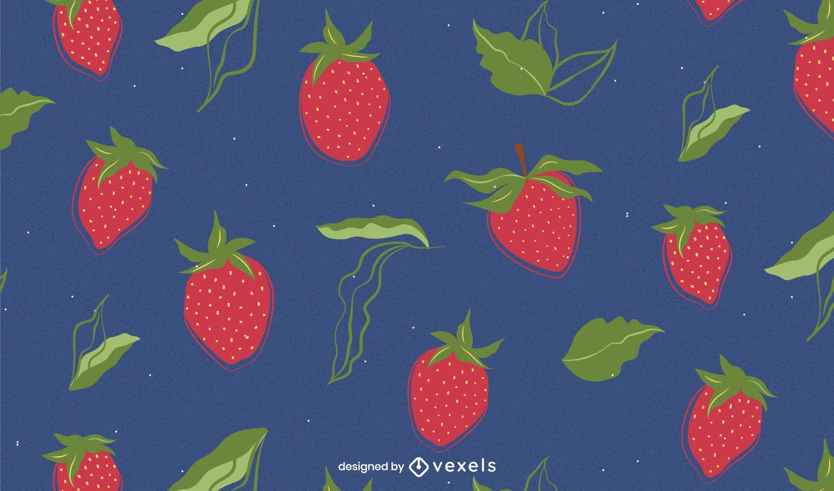 Strawberry pattern design