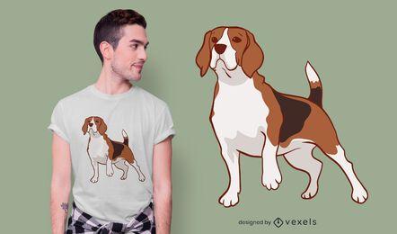 Diseño de camiseta de perro beagle