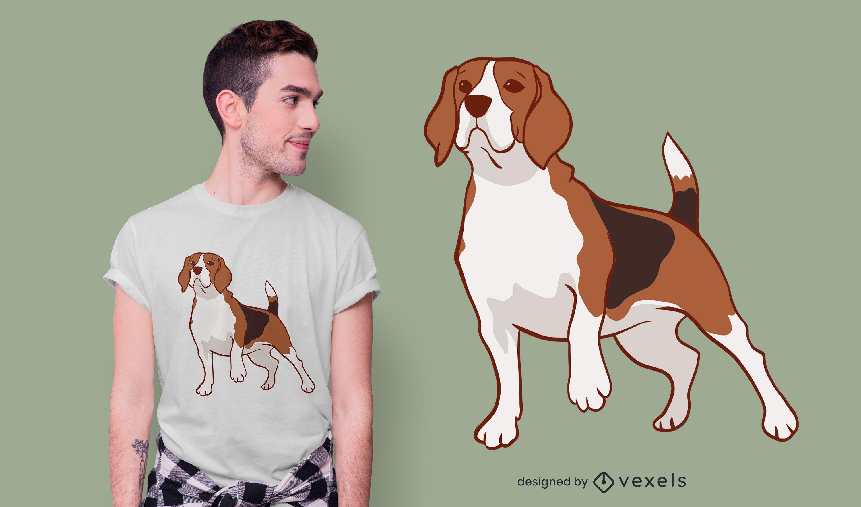 Beagle dog t-shirt design