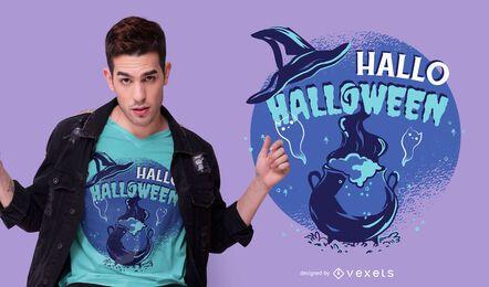 Diseño de camiseta Hallo Halloween