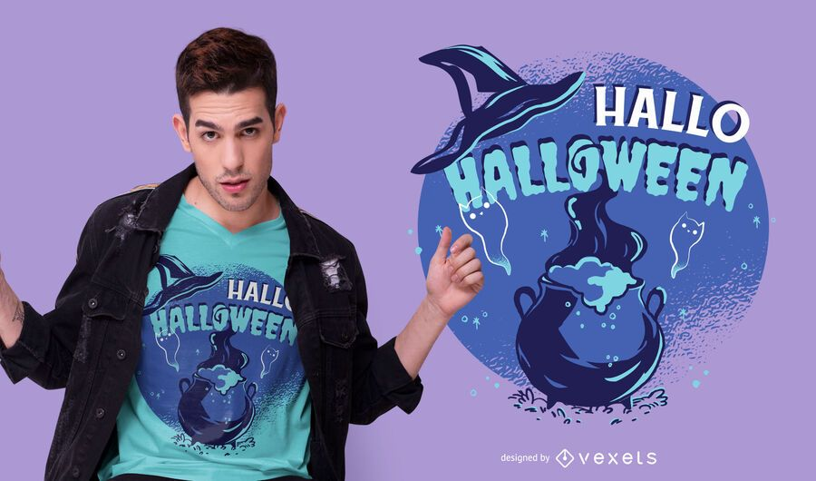Hallo halloween t-shirt design