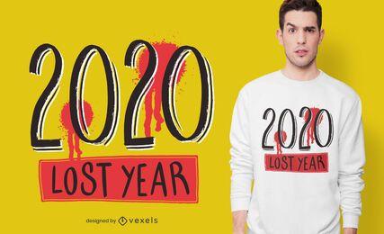 Design de camiseta do ano perdido em 2020