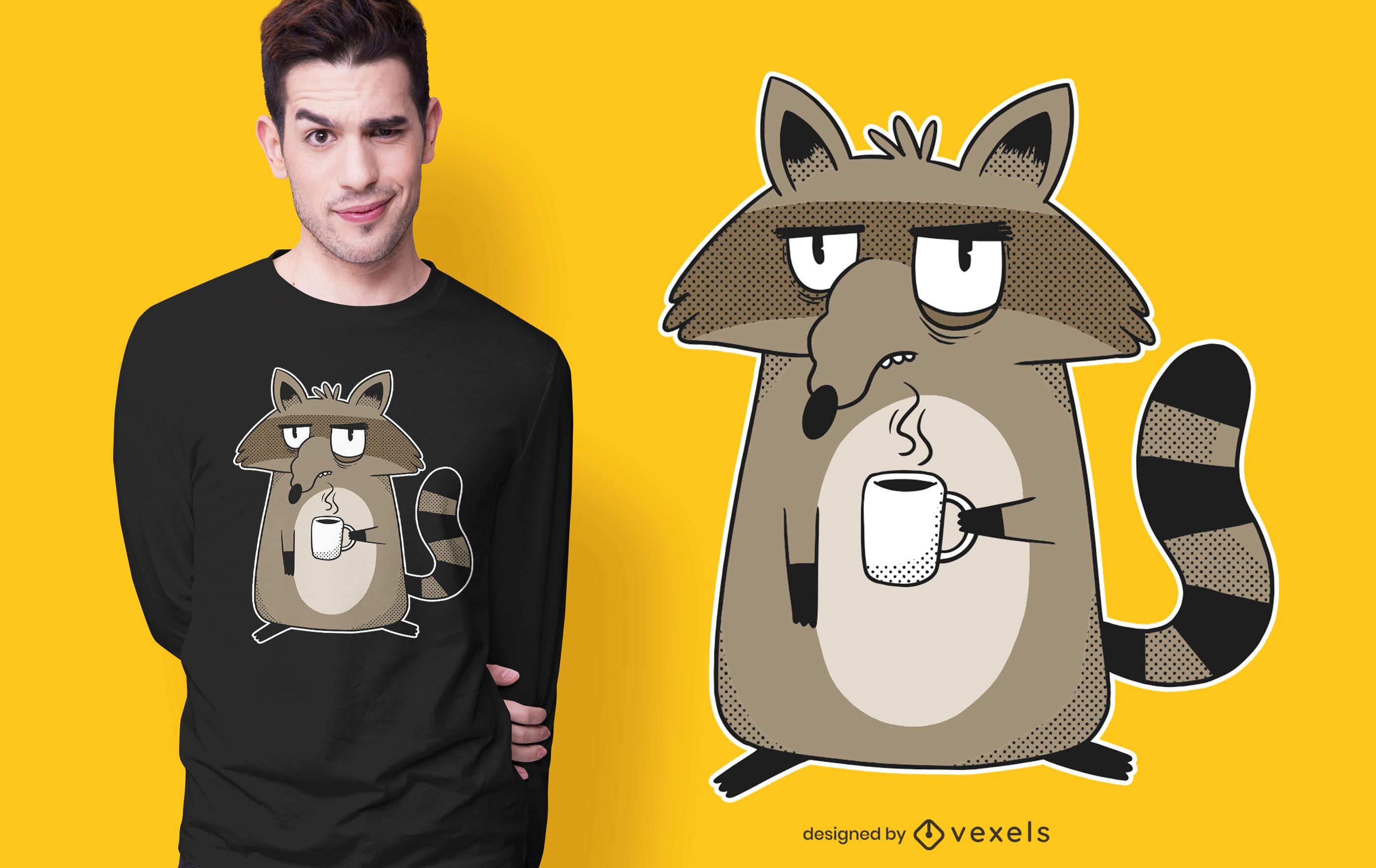 Grumpy raccoon t-shirt design
