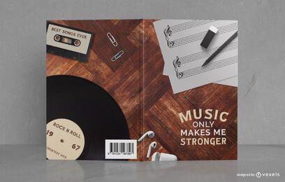 Design de capa de livro de diário de nota de música
