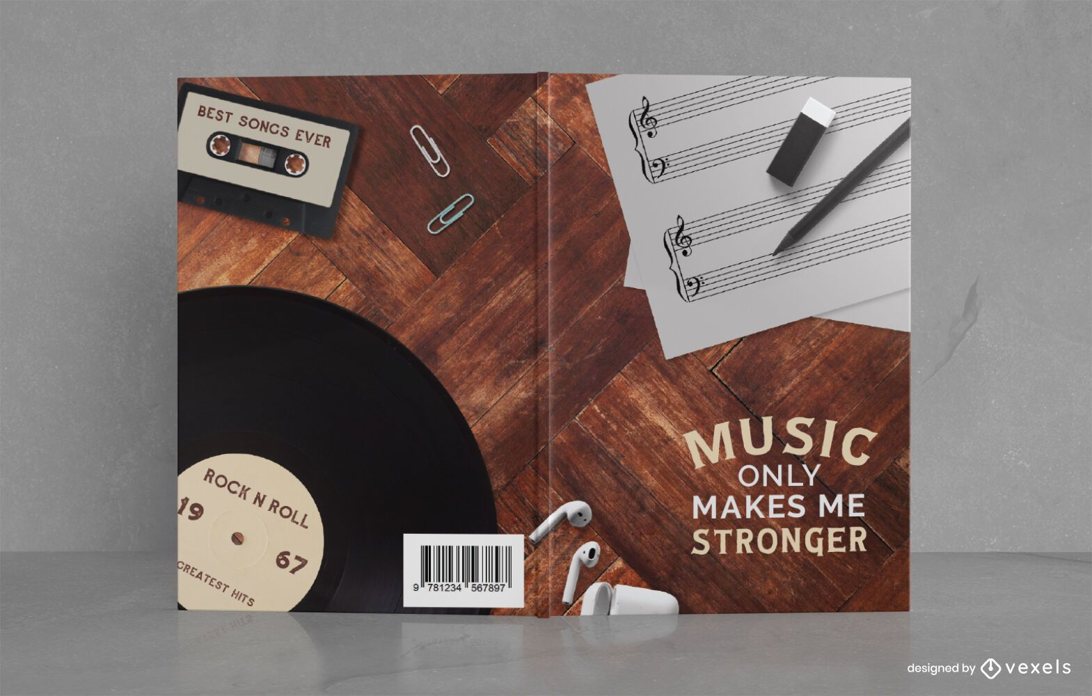 Music Note Journal Book Cover Design