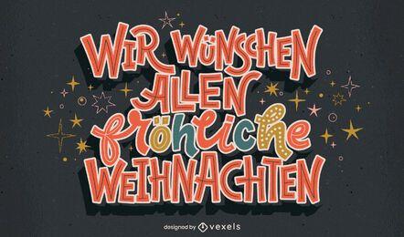 Desenho de letras em alemão de natal