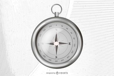 Realistic compass illustration design