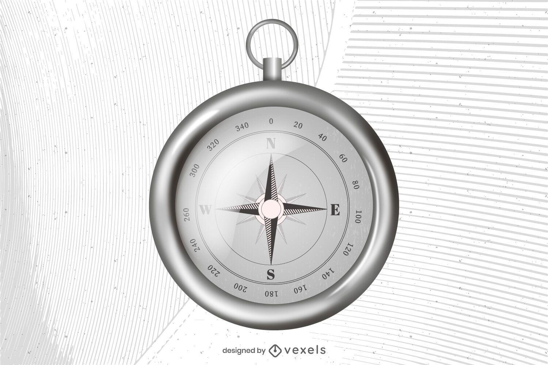 Realistic compass illustration design
