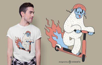 Yeti-Roller-Roller-T-Shirt Design