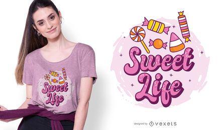 Diseño de camiseta Sweet Life