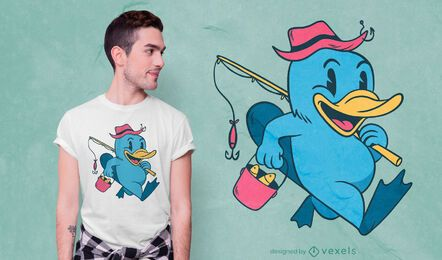 Design de t-shirt Platypus Fisher