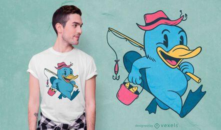 Platypus fisher t-shirt design