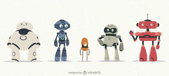 Roboter-Zeichensatz-Design