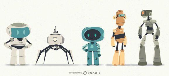 Robots Character Set Design