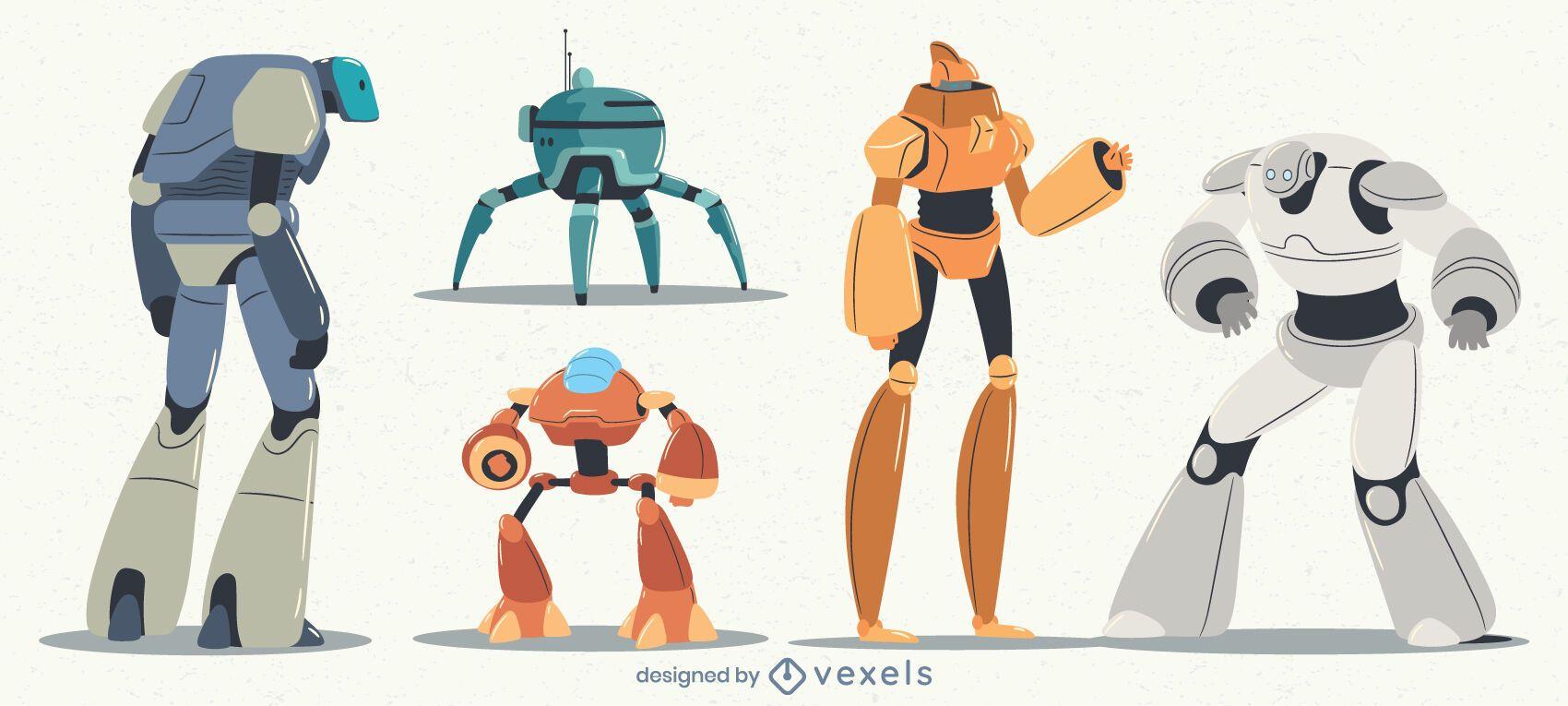 Conjunto de caracteres de robots