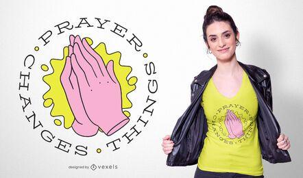 La oración cambia las cosas diseño de camiseta