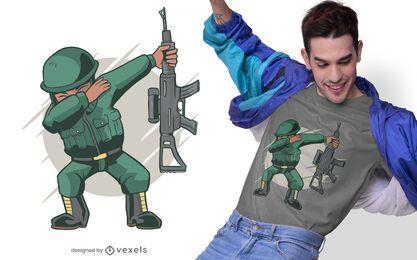 Diseño de camiseta de soldado dabbing