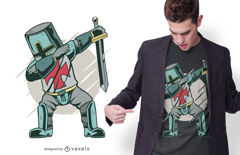 Design de t-shirt Knight dabbing