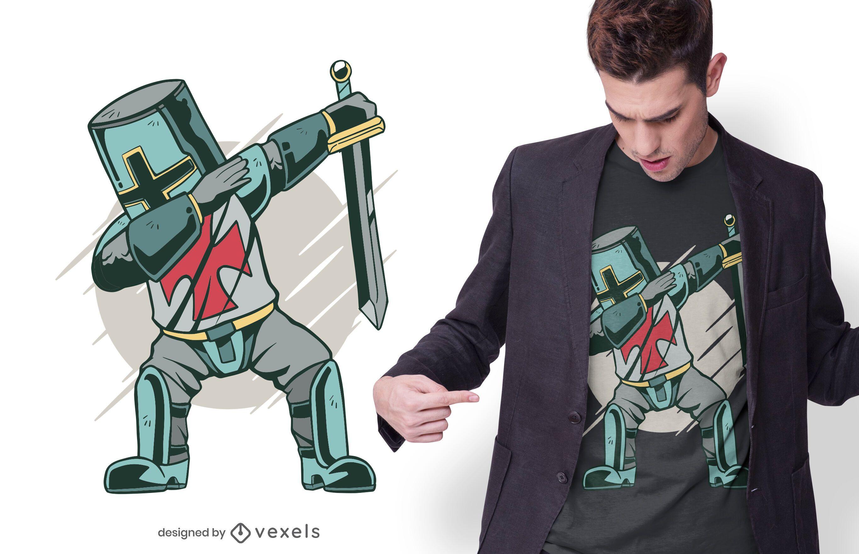 Knight dabbing t-shirt design