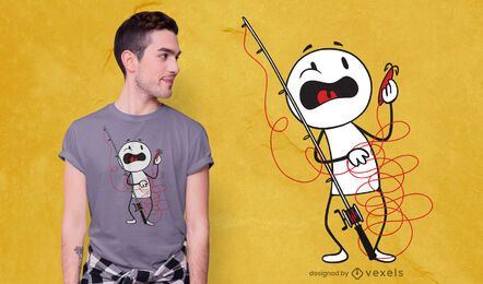T-shirt Fisherman Tangle Design