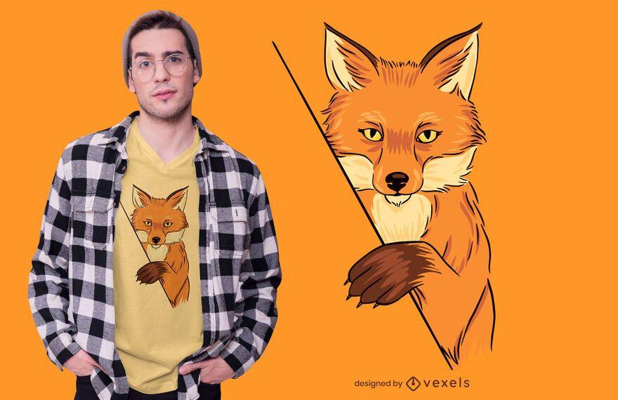 Fox Illustration T-shirt Design
