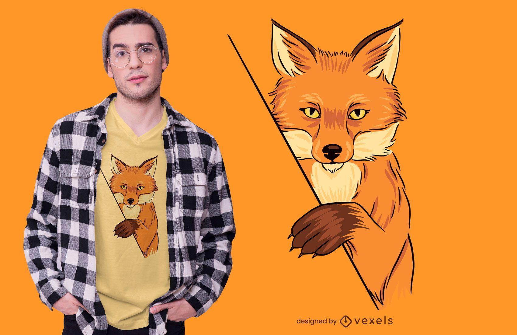 Diseño de camiseta Fox Illustration