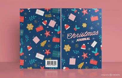 Design da capa do livro do Christmas Journal Patter