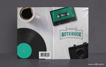 Desenho de capa de livro de caderno de composição