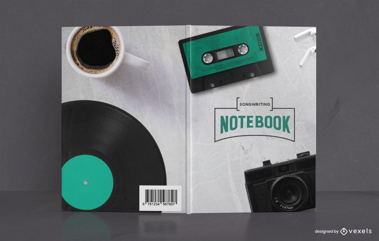 Diseño de portada de libro de cuaderno de composición