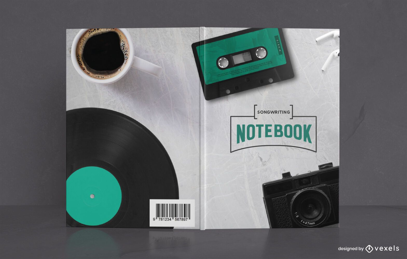 Songwriting Notebook Book Cover Design