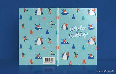 Design da capa do livro para as férias de inverno