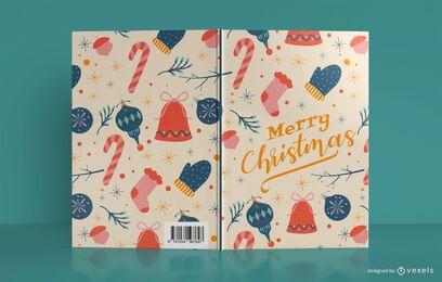 Diseño de portada de libro de diario de feliz Navidad