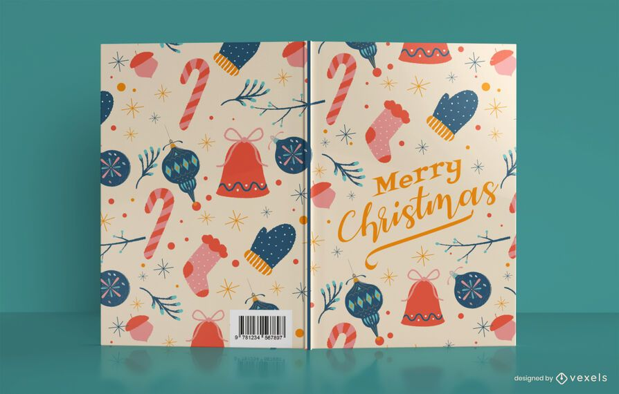 Design da capa do livro do Merry Christmas Journal