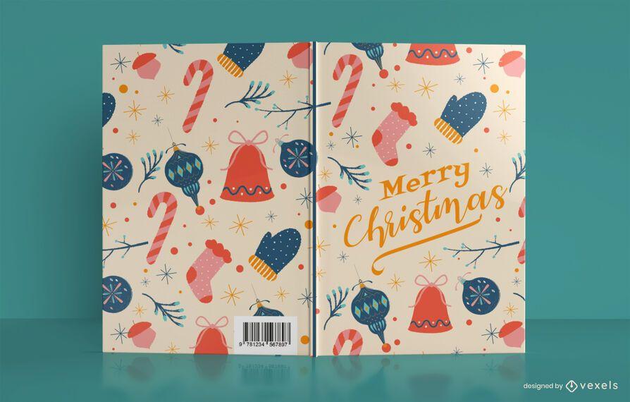 Merry Christmas Journal Book Cover Design