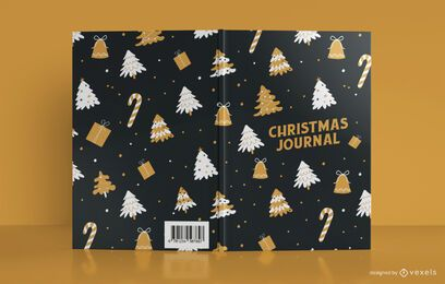 Design da capa do livro do Christmas Pattern Journal