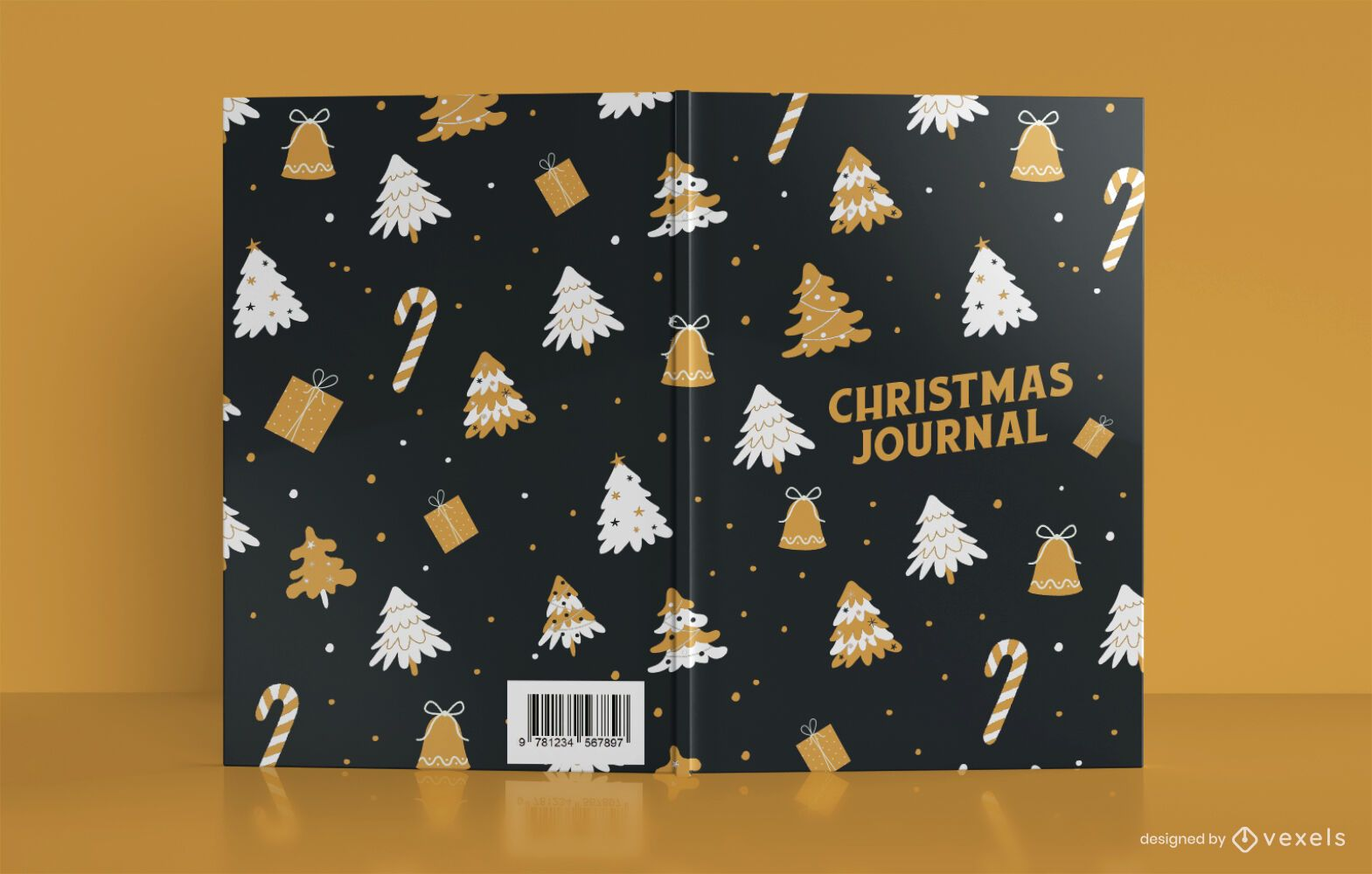 Design da capa do livro do Christmas Pattern Journal