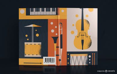 Vintage Musik Illustration Buchcover Design