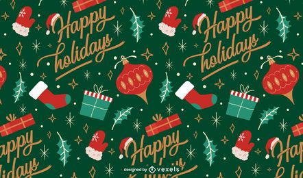 Happy holidays christmas pattern