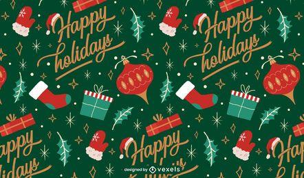 Happy holidays christmas pattern