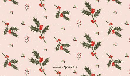 Diseño de patrón de navidad de muérdago