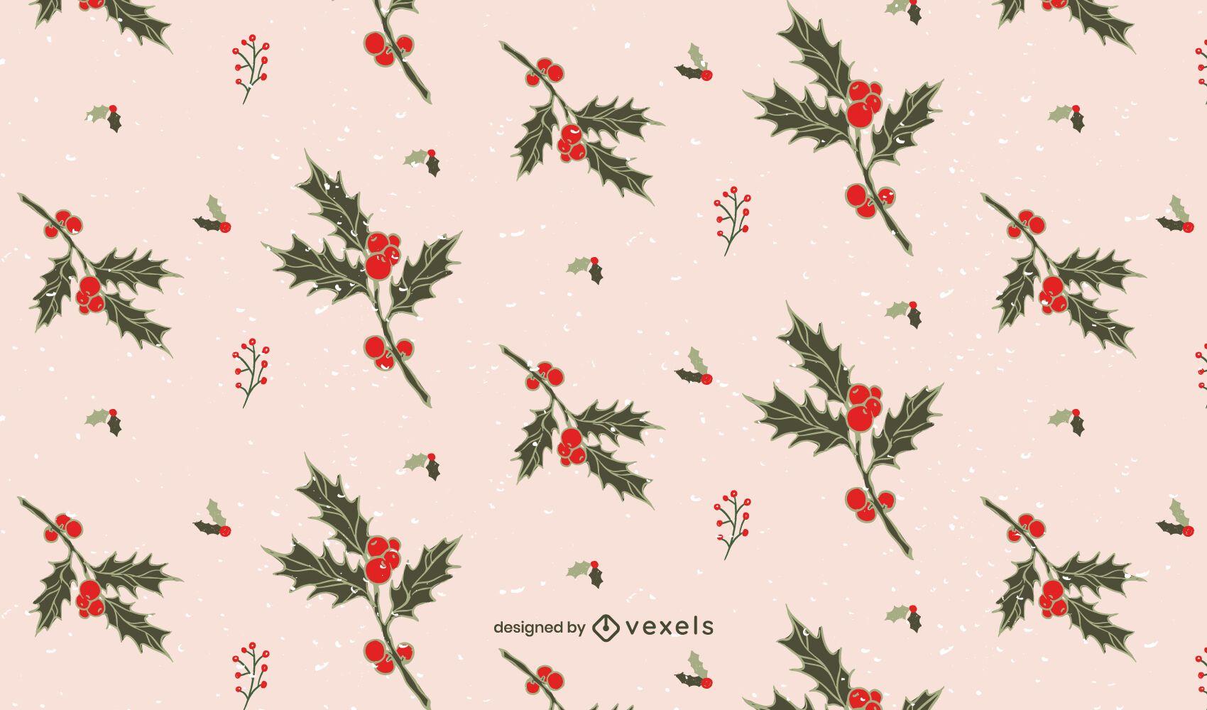 Mistletoe christmas pattern design