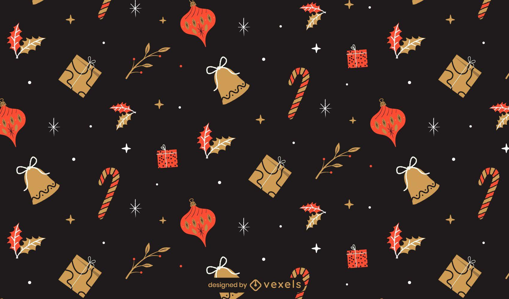 Diseño de patrón de vacaciones de Navidad