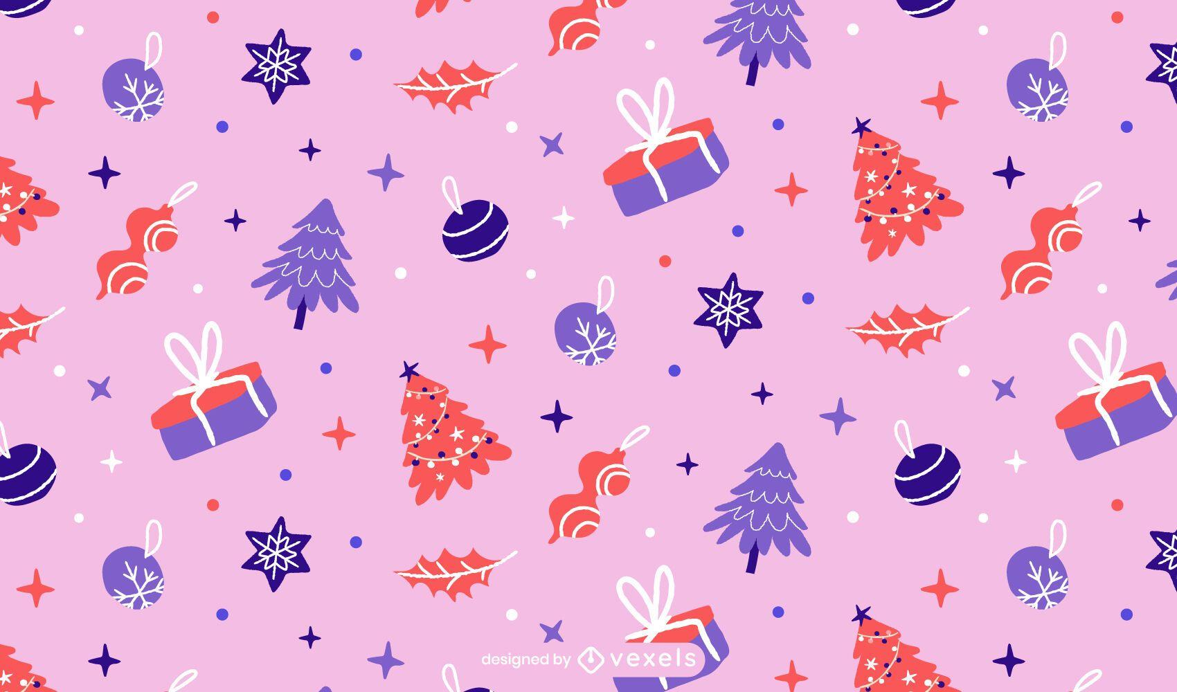 Diseño de patrón de pastel de Navidad