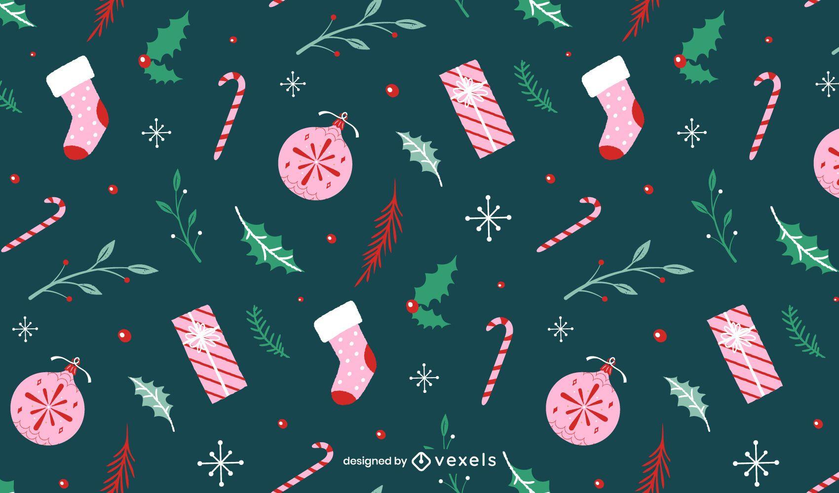 Christmas holiday pattern design