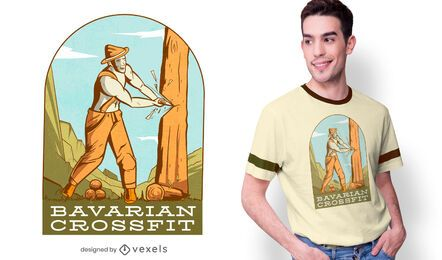 Diseño de camiseta de crossfit bávaro