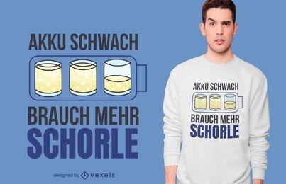 Diseño de camiseta Schorle Quote