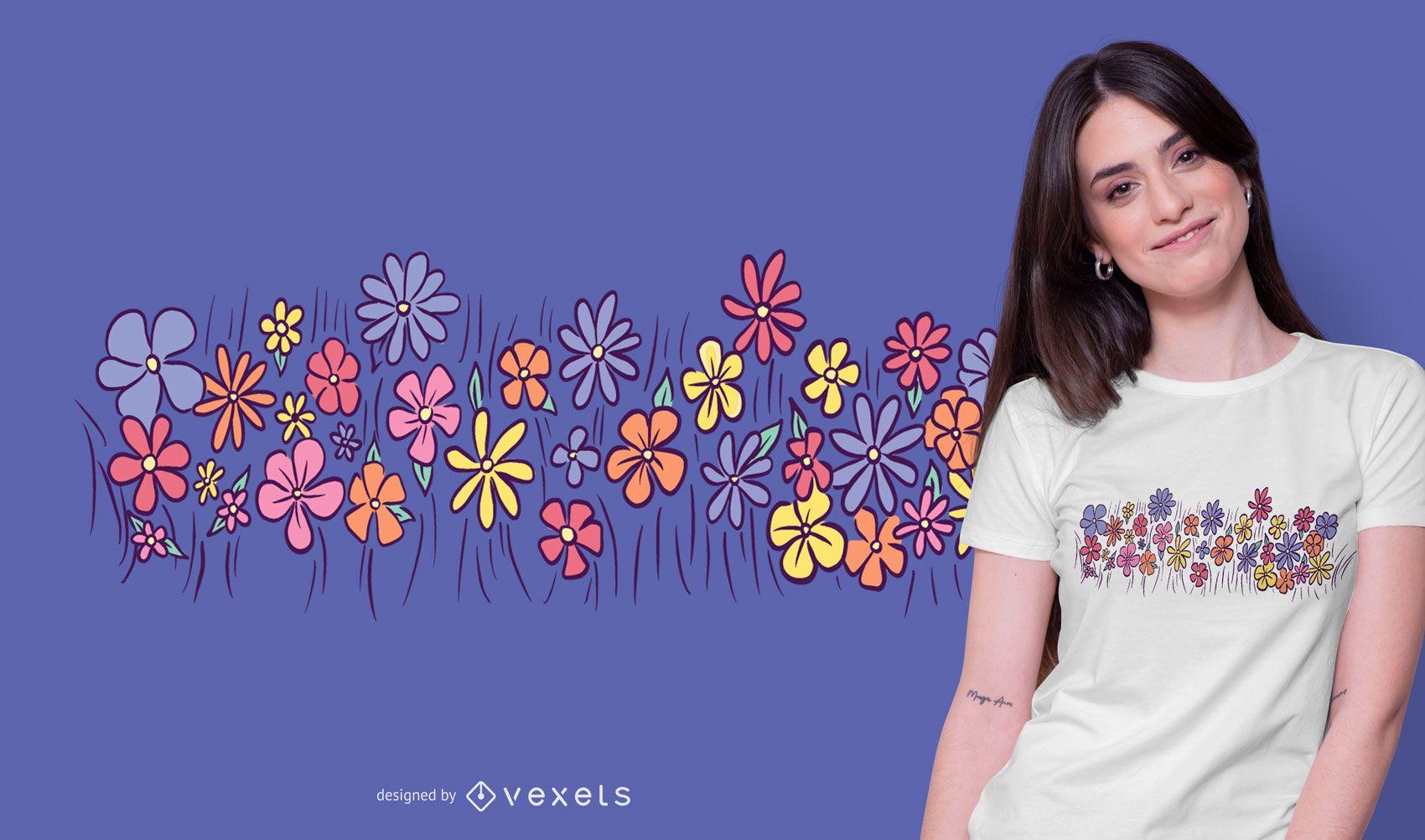 Dise?o de camiseta Doodle Flowers