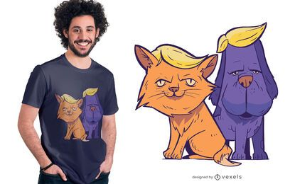 Trump Cat and Dog T-shirt Design